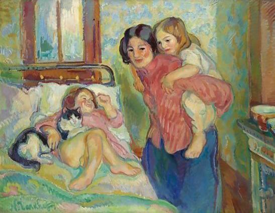 Nikolai Tarkhov (Rusia,1871-1930) La chambre de maman