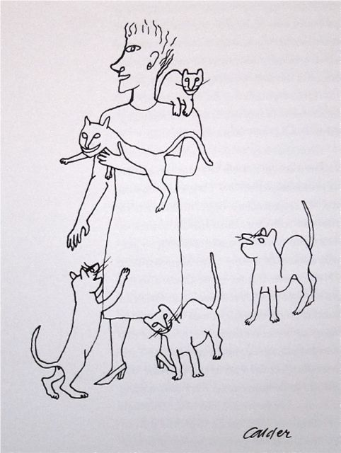 Alexander Calder (American, 1898–1976) - Mary Reynolds with Her Cats.